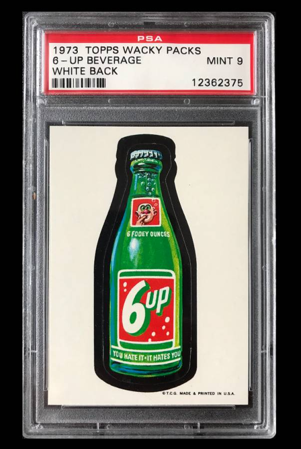 1973 Topps Wacky Packages Chock Full O/'Bolts 1st Ser White Back PSA 8 NM-MT Card