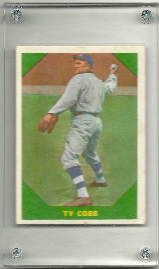 the legendary of ty cobb in the game of baseball